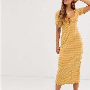 Never worn striped maxi dress